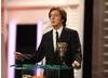 Sir Paul McCartney presented the Original Music BAFTA and joked
