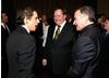 Ben Stiller, John Lasseter and Robin Williams 