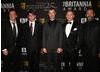 From left: the night's honorees Quentin Tarantino, Will Wright, Matt Stone, Daniel Craig, Trey Parker.