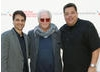 Actor Ralph Macchio, director Bob Giraldi, and actor Steve Schirripa at the HIFF event (Photo by Monica Schipper/Getty Images for The Hamptons International Film Festival)