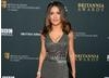Salma Hayek in a gray, sequin-embellished gown