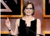 Actress Sigourney Weaver delivered a speech on stage during the Britanna Awards ceremony