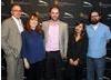 BAFTA Los Angeles staff Wayne Watkins, Lisa Ogdie, Matthew Wiseman, Rosalyn Hummell, and Ciaran Toner
