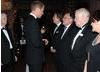 BAFTA Chairman Tim Corrie watches on as the Duke of Cambridge greets Nigel Lythgoe, John Willis, Brian Walton and Rebecca Segal