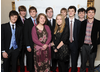 From Left-Right; Tyger Drew-Honey (BAFTA YGD Ambassador), Laurie Griffiths, Fred Gosling and Molly Proud of Team Chamelion Arch, Joe Hanaphy, Rachel Langford and Matthew Langford of Team Defying Gravity and Nathaniel Weisberg, Noah Shepherd and Louis Scantlebury of Team Nose Dive Studios.
