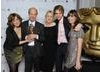 Brian Cant at the 2010 British Academy Children's Awards with his wife Cherry and their three children Rose, Christabel and Peter. Pic: BAFTA/Richard Kendal