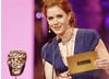 Amy Adams, nominated for her Supporting Actress Role in Doubt, took to the stage to present the BAFTA for Adapted screenplay (BAFTA / Marc Hoberman).