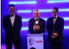 Kevin McDowell, Scott Pitkethly and Alan Blair with their Strategy BAFTA for Total War: Shogun 2.