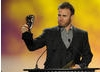 To the audience's excitement, Gary Barlow arrived at the Awards as a surprise guest to present the final category of the night. Pic: BAFTA/Steve Finn
