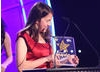 Fourteen year old Lauren celebrates winning the CBBC Me and My Movie competition for her animated film Vern's Vacation.