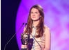 Bonnie Wright takes a breather from her role as Ginny Weasley in the Harry Potter film series to present the Academy's Break-through Talent Award.