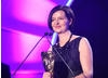 Helen Blakeman collects the Writer Award for her TV adaptation of Jacqueline Wilson's children's novel, Dustbin Baby.