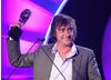 Richard Hammond, best known for his high-speed antics on Top Gear, accepts the Presenter award for his work on CBBC's Blast Lab. 