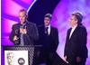 Astley Baker Davies, creators and producers of Peppa Pig and Ben & Holly's Little Kingdom, accept the Independent Production Company of the Year Award.
