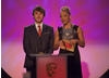 X-Factor contestants Kye Sones and Jade Ellis team up to present the BAFTA Kids' Vote awards, which were voted for by the public.