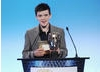 Dancer George Sampson presenting the Break-through Talent Award in 2008