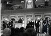 The cast of Coronation Street at the British Academy of Film and Television Awards in 1980.