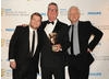This award was presented by James Corden and Richard Curtis to producer Peter Bennett-Jones, founder of Tiger Aspect and the man behind countless British comedies including The Vicar of Dibley and Mr Bean. (Pic: BAFTA/Richard Kendal)