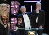 Sara Ford, Miles Barton and Adam White joined Sir David Attenborough on stage to celebrate their Specialist Factual win for Life in Coild Blood. Sir David collected his eighth BAFTA by thanking