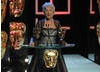 Dame Helen Mirren presents the Academy Fellowship to French & Saunders, only the second double-act to be awarded the honour after Morecambe & Wise in 1999 (BAFTA / Marc Hoberman).