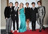 The presenting team of Friday Download, including Tyger Drew Honey (far right), which is nominated in the Entertainment category.