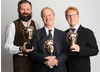 The winning team behind Peppa Pig: Phil Davies, Philip Hall and Joris van Hulzen.