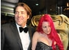 Jonathan Ross arrives at the London Hilton Hotel with wife Jane Goldman (BAFTA / James Kennedy).