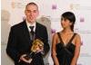Blue Peter Presenter Konnie Huq presented the Gameplay Award to Robert Bowling for Call of Duty 4: Modern Warfare (BAFTA / James Kennedy).