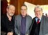 From left to right, Terry Gilliam, Stephen Frears and Alan Parker.
