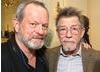 Terry Gilliam (left) with John Hurt (right).