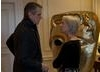 Helen Mirren talks with Jeremy Irons at the BAFTA Fellowship lunch hosted by Hacket.