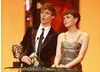 The Editing category was presented by The Other Boleyn Girl actor Eddie Redmayne and actress Carey Mulligan (BAFTA / Marc Hoberman).