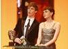 The Editing category was presented by The Other Boleyn Girl actor Eddie Redmayne and actress Carey Mulligan (BAFTA / Marc Hoberman).