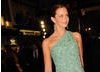 Actress Emily Blunt looked stunning in a chic off the shoulder green dress by Marc Bouwer with jewellery by H Stern (pic: BAFTA / Marc Hoberman).