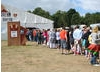 The crowd queue to see Gurinder Chadha at Latitude Festival 2008.