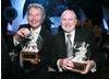 New Line Cinema's Bob Shaye & Michael Lynne, recipients of the Cunard Britannia Award for Lifetime Contributions to International Film.