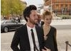 Da Vinci's Demons actors Tom Riley & Hera Hilmar arrive at the Wales Millennium Centre