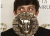 Submarine star Craig Roberts with his newly acquired BAFTA Cymru Award for Best Actor
