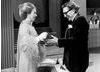 HRH The Princess Anne Present Robin Day With The Richard Dimbleby Award for Best Factual Presenter in 1975