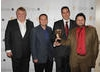 DJ Nick Ferrari with the Interactive Award winners at the EA British Academy Children's Awards in 2008.