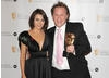 Dannii Minogue and Presenter Award winner Justin Fletcher at the EA British Academy Children's Awards in 2008.