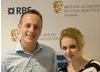 BAFTA Youth Mentoring: Craig Martin of The Princes Trust with Hayleigh, a young beneficiary[Picture: Jenny Anderson]