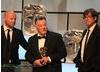 BAFTA winners for Comedy Programme: Richard Webb,  Stewart Lee and Tim Kirkby.