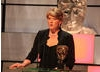 Sports broadcaster Clare Balding presents the News Coverage award.