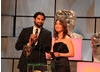 The Killing's Sofie Grabol and Kayvan 'Facejacker' Novak present the award for Specialist Factual.