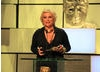 Jennifer Saunders collects the BAFTA for her recent performance in Absolutely Fabulous.