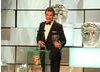 Dominic West collects his BAFTA for a memorable performance in Appropriate Adult.