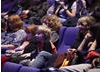 Audience members listen attentively as actor Colin Morgan talks about his favourite moments from the series (BAFTA / Jonny Birch).