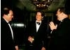 Bob and Harvey Weinstein with Hugh Grant
