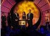 Tony Reed, Helen Stephens and Dominic Minns receive the BAFTA for the beautifully designed and entertaining ZingZillas. (Pic: BAFTA/Steve Finn)